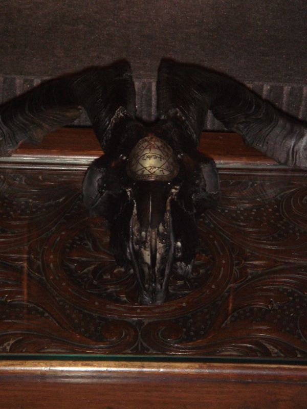 Diabolical Horned Occult Altar Goat