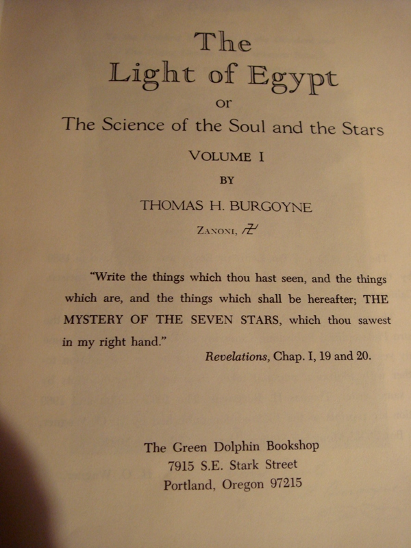 The Light Of Egypt Mystic Old Occult Book C 1969
