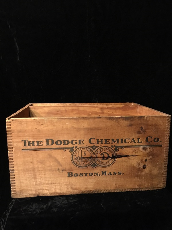 EMBALMING FLUID Crate Dodge Chemical Company Antique Kosmol